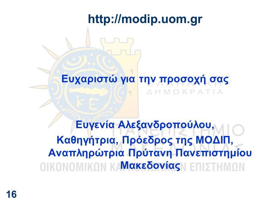 Ευχαριστώ για την προσοχή σας Ευγενία Αλεξανδροπούλου,