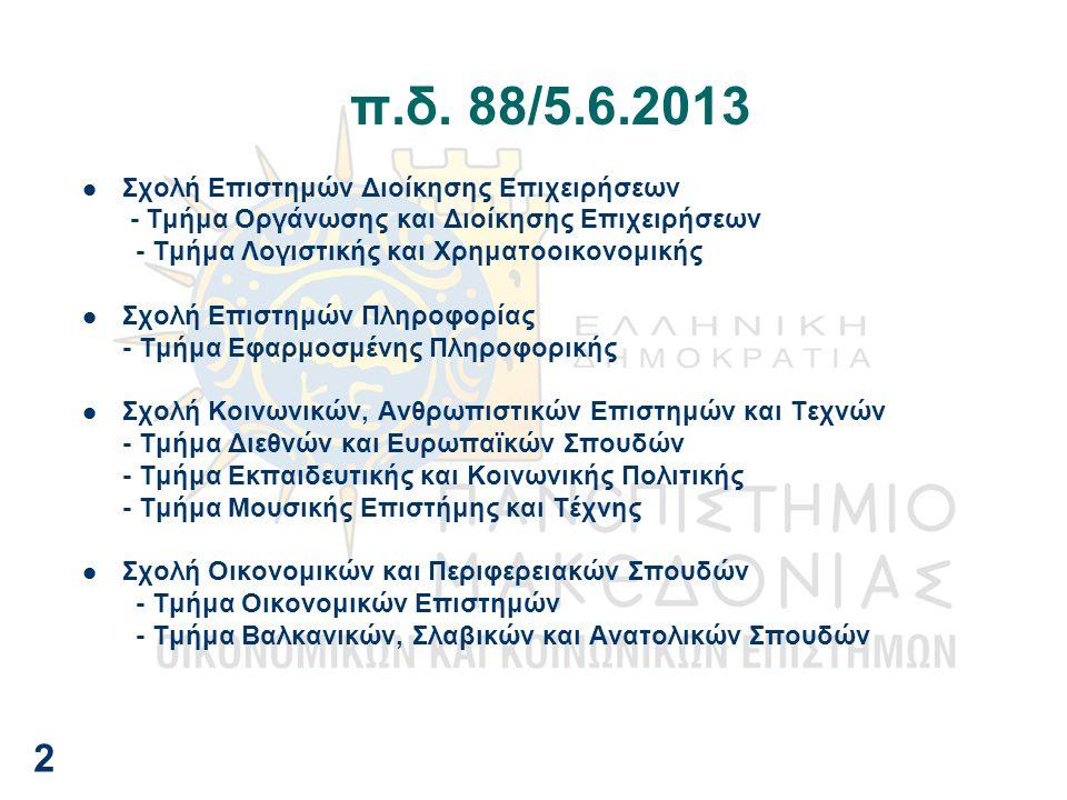 π.δ. 88/5.6.2013 2 Σχολή Επιστημών Διοίκησης Επιχειρήσεων