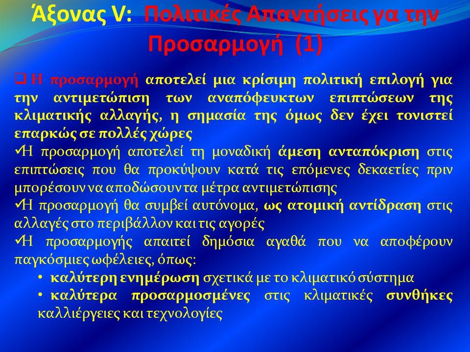 Άξονας V: Πολιτικές Απαντήσεις γα την Προσαρμογή (1)