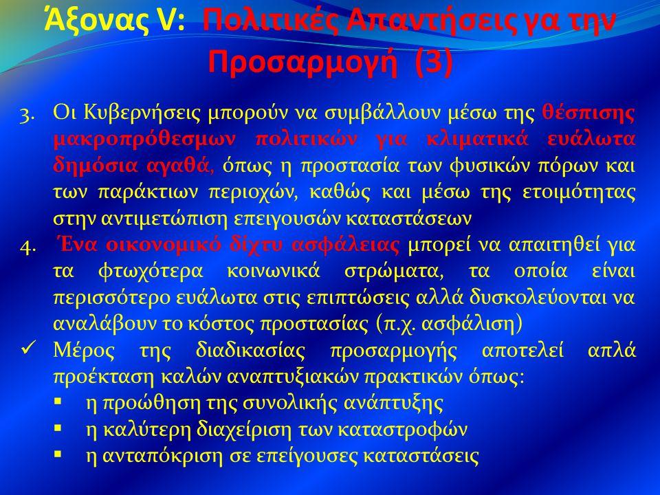 Άξονας V: Πολιτικές Απαντήσεις γα την Προσαρμογή (3)
