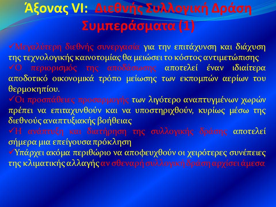 Άξονας VI: Διεθνής Συλλογική Δράση Συμπεράσματα (1)