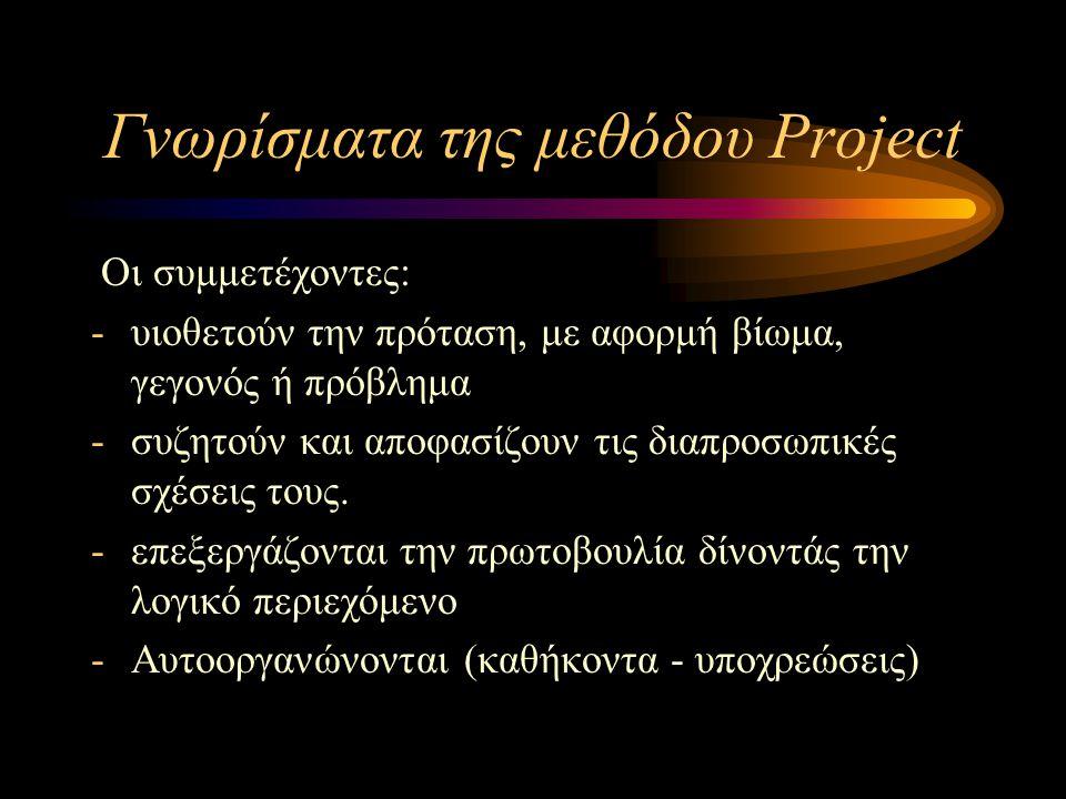 Γνωρίσματα της μεθόδου Project