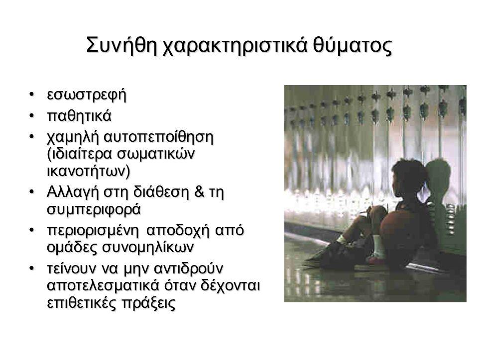 Συνήθη χαρακτηριστικά θύματος