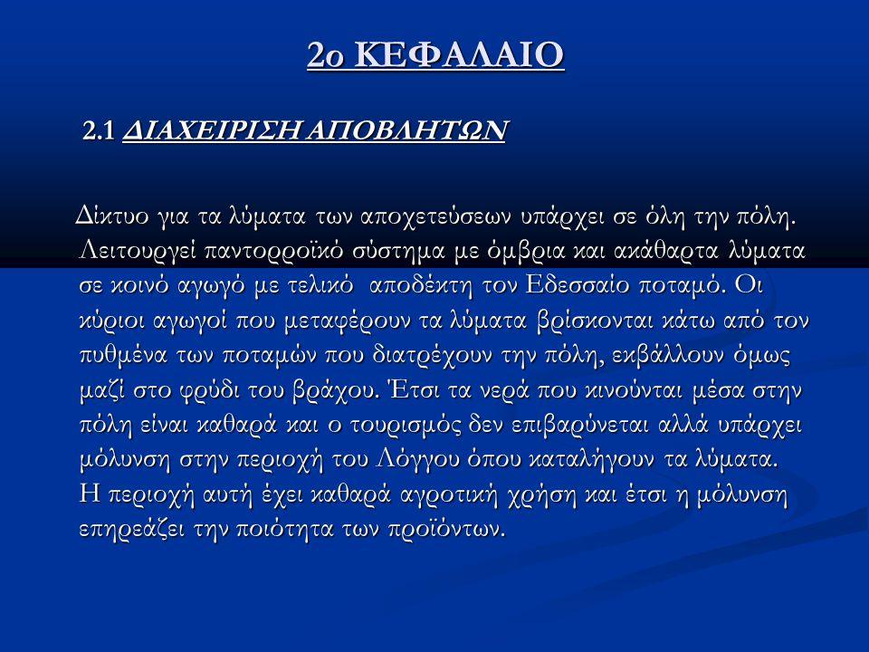 2ο ΚΕΦΑΛΑΙΟ 2.1 ΔΙΑΧΕΙΡΙΣΗ ΑΠΟΒΛΗΤΩΝ
