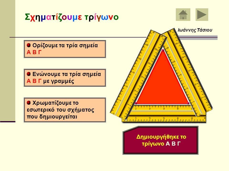 Δημιουργήθηκε το τρίγωνο Α Β Γ