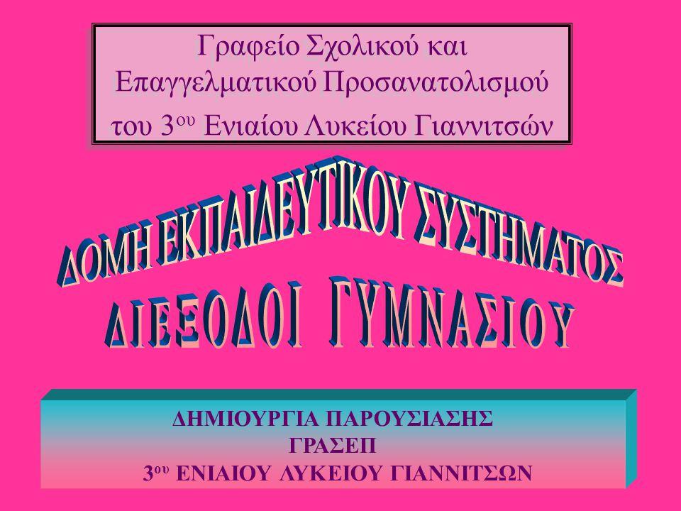 ΔΗΜΙΟΥΡΓΙΑ ΠΑΡΟΥΣΙΑΣΗΣ 3ου ΕΝΙΑΙΟΥ ΛΥΚΕΙΟΥ ΓΙΑΝΝΙΤΣΩΝ