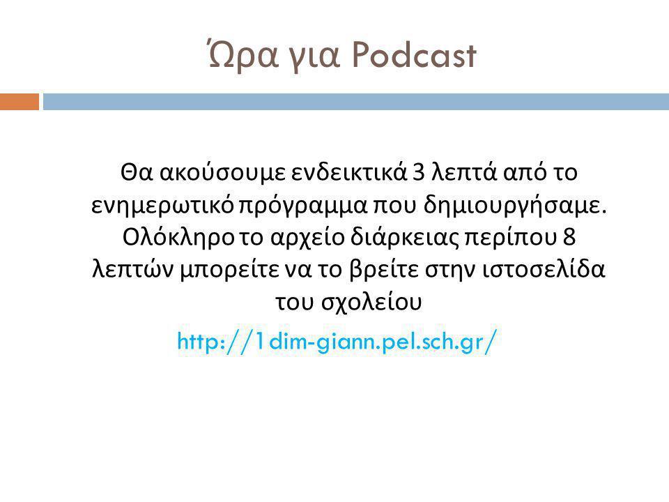 Ώρα για Podcast