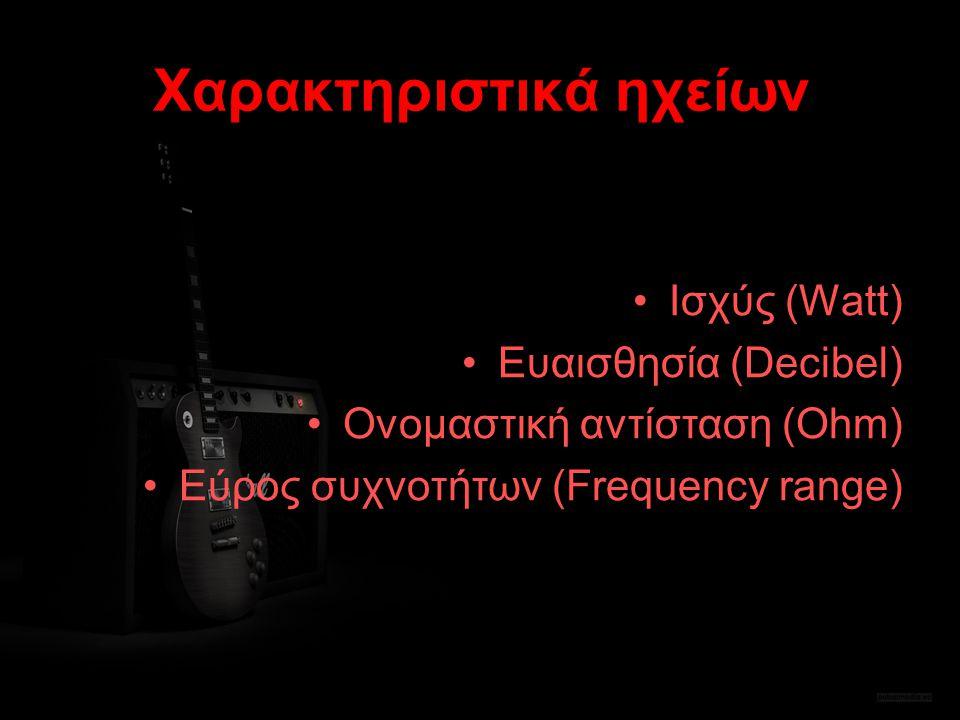 Χαρακτηριστικά ηχείων