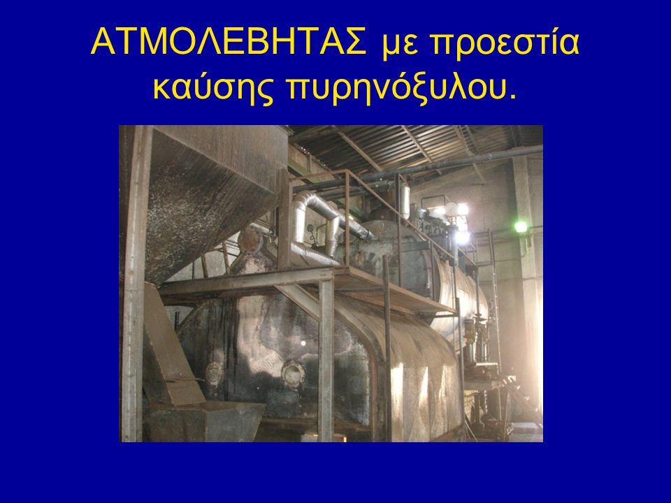 ΑΤΜΟΛΕΒΗΤΑΣ με προεστία καύσης πυρηνόξυλου.