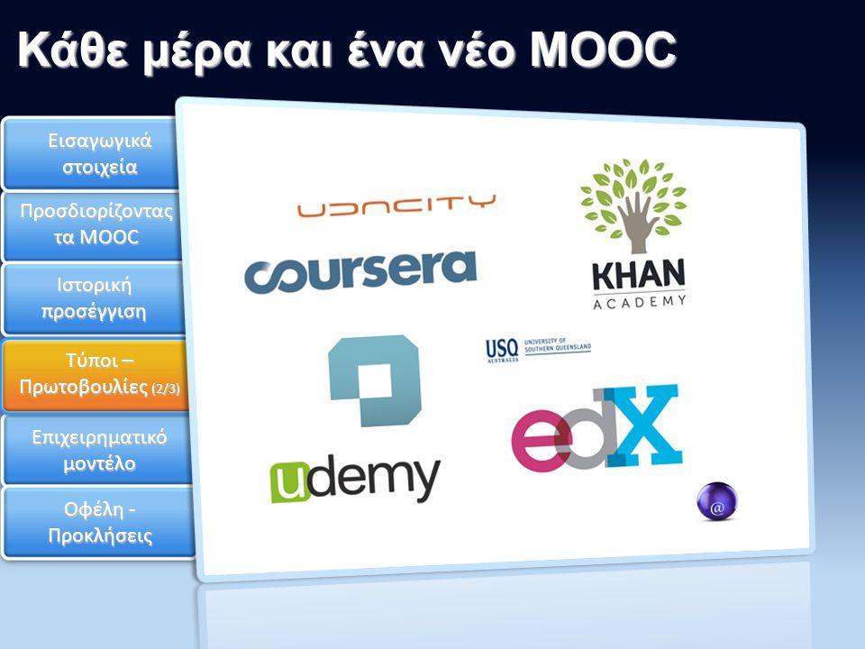 Κάθε μέρα και ένα νέο MOOC