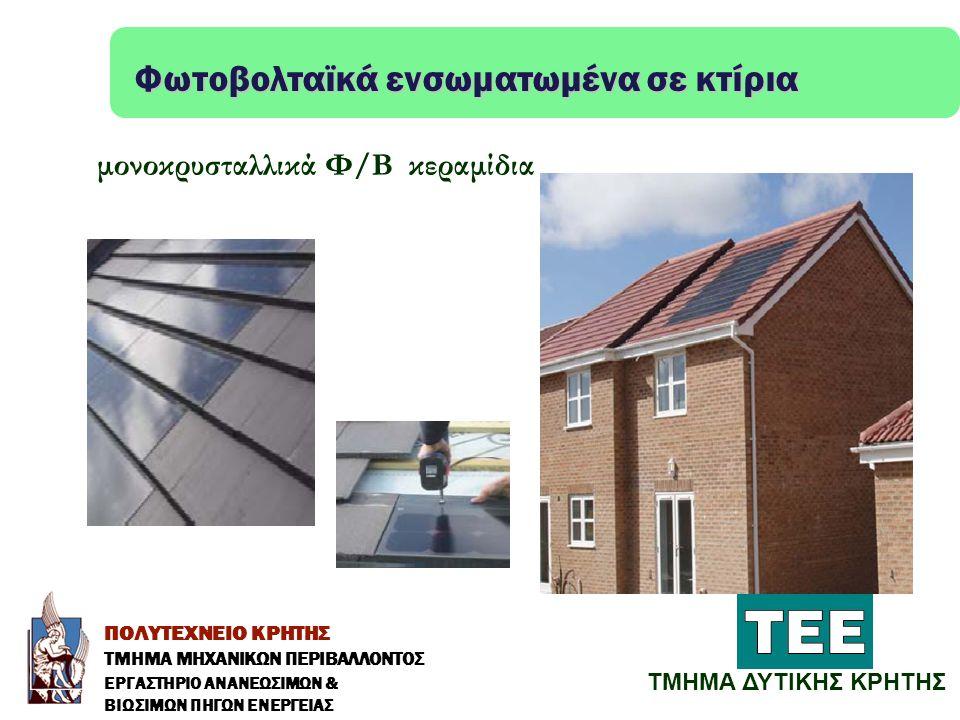 Φωτοβολταϊκά ενσωματωμένα σε κτίρια