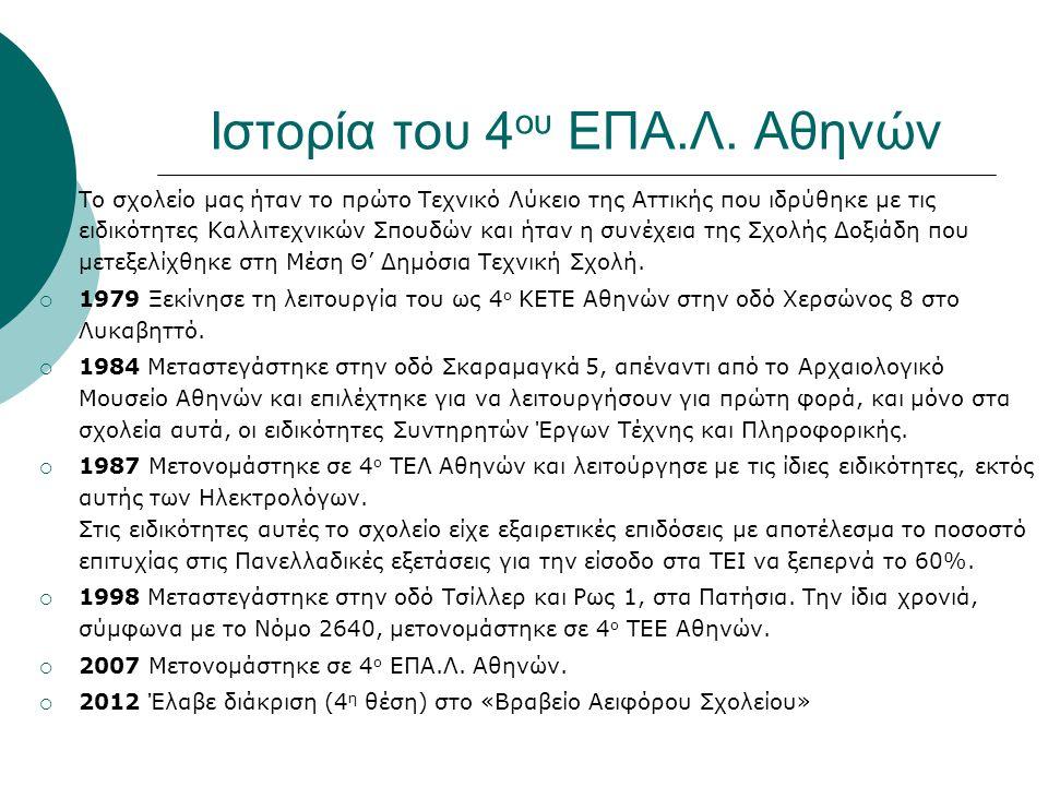 Ιστορία του 4ου ΕΠΑ.Λ. Αθηνών
