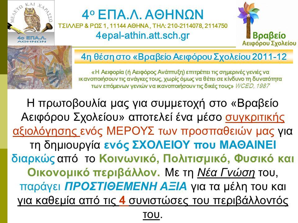 4ο ΕΠΑ.Λ. ΑΘΗΝΩΝ ΤΣΙΛΛΕΡ & ΡΩΣ 1, 11144 ΑΘΗΝΑ , ΤΗΛ: 210-2114078, 2114750. 4epal-athin.att.sch.gr.