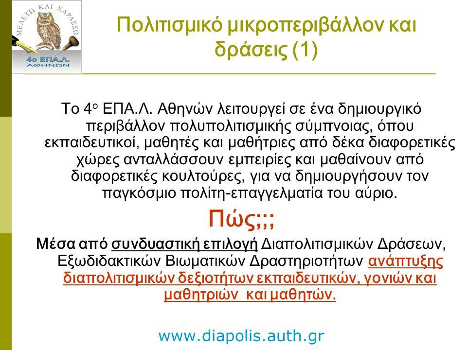 Πολιτισμικό μικροπεριβάλλον και δράσεις (1)