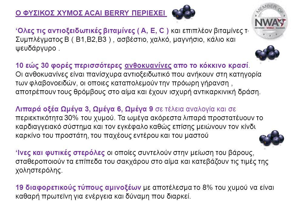 Ο ΦΥΣΙΚΟΣ ΧΥΜΟΣ ACAI BERRY ΠΕΡΙΕΧΕΙ