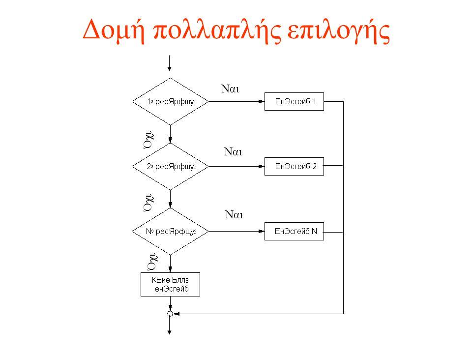 Δομή πολλαπλής επιλογής