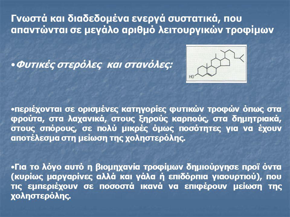 Φυτικές στερόλες και στανόλες: