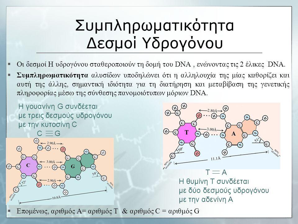 Συμπληρωματικότητα Δεσμοί Υδρογόνου