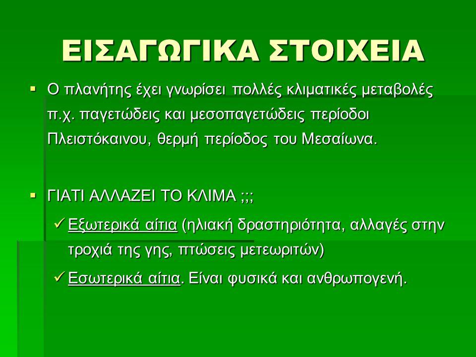 ΕΙΣΑΓΩΓΙΚΑ ΣΤΟΙΧΕΙΑ