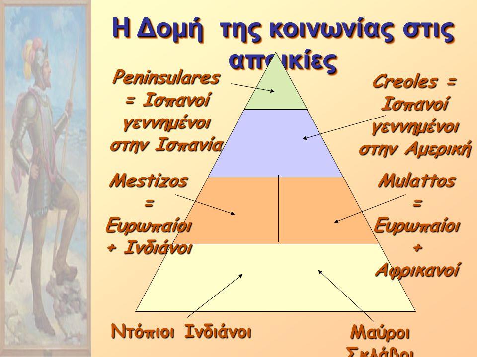 Η Δομή της κοινωνίας στις αποικίες