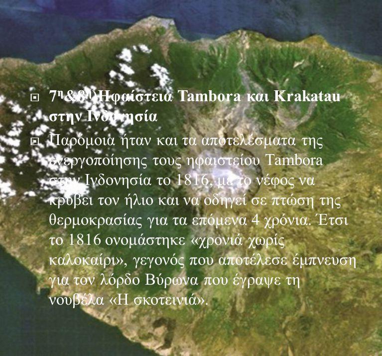 7η&8η)Ηφαίστεια Tambora και Krakatau στην Ινδονησία