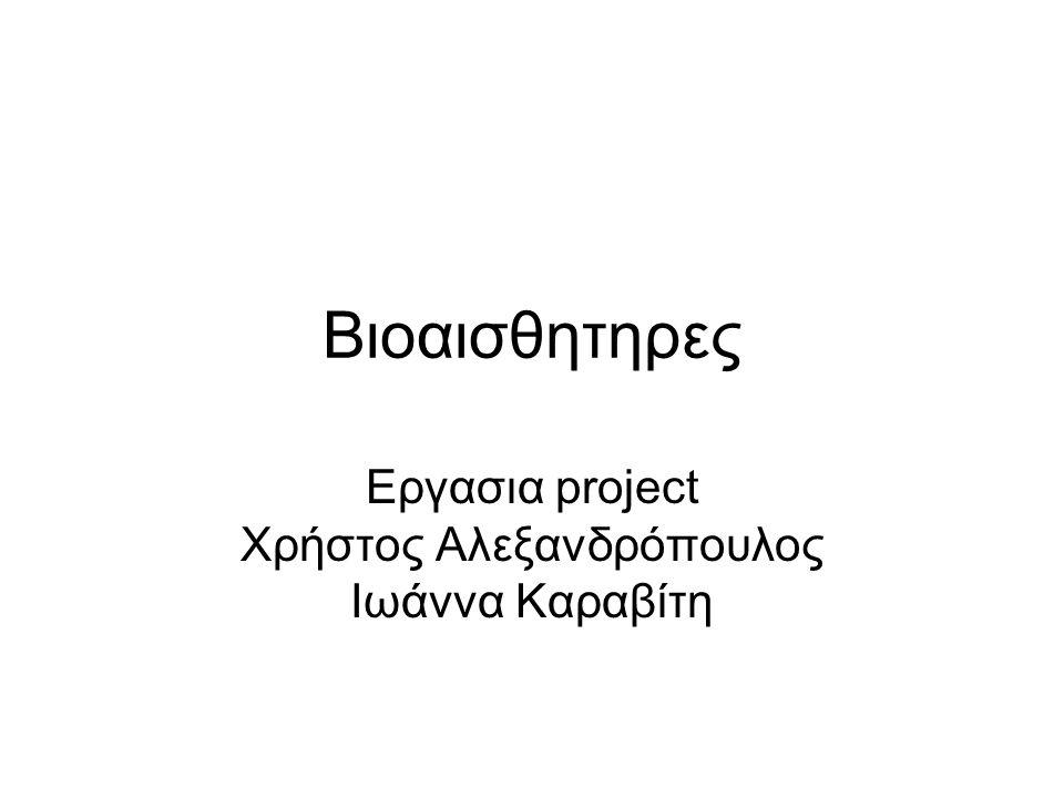 Εργασια project Χρήστος Αλεξανδρόπουλος Ιωάννα Καραβίτη