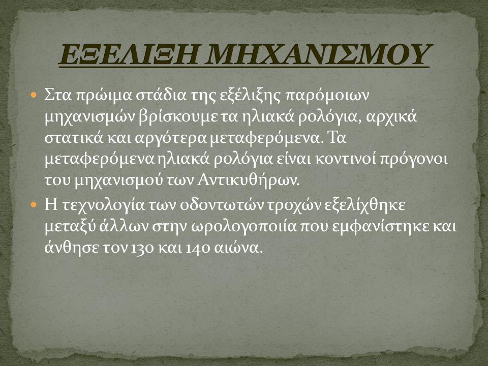 ΕΞΕΛΙΞΗ ΜΗΧΑΝΙΣΜΟΥ