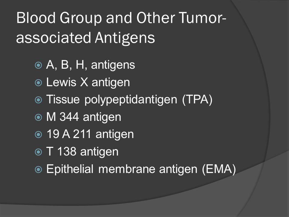Blood Group and Other Tumor-associated Antigens