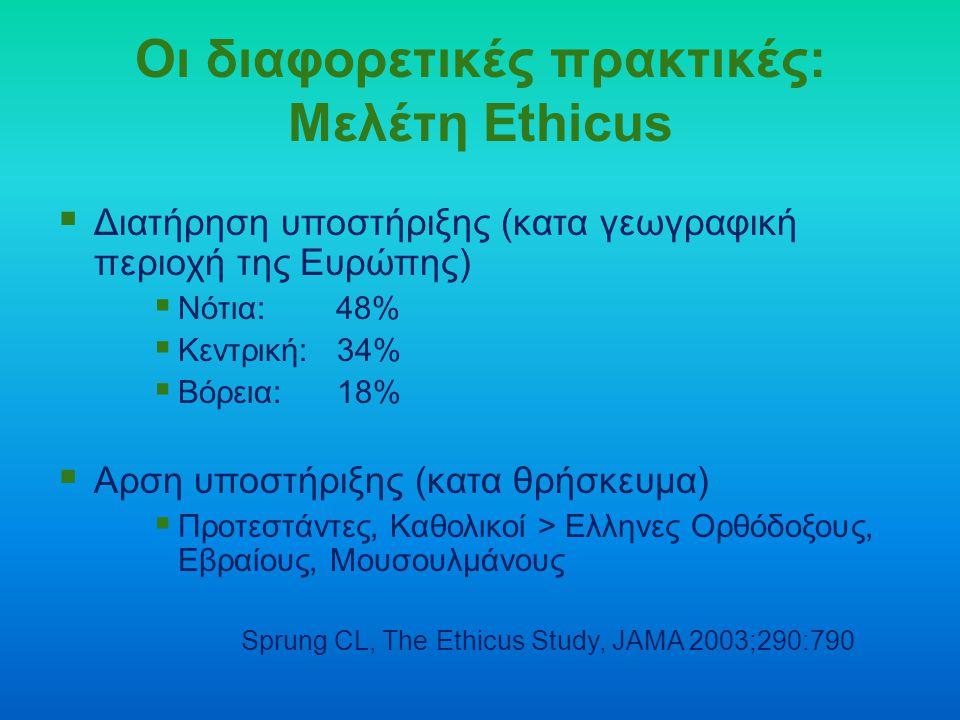Οι διαφορετικές πρακτικές: Μελέτη Ethicus