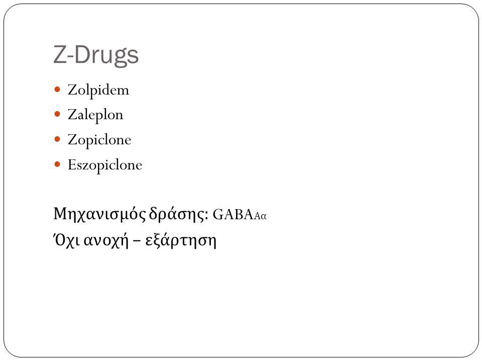 Z-Drugs Zolpidem Zaleplon Zopiclone Eszopiclone