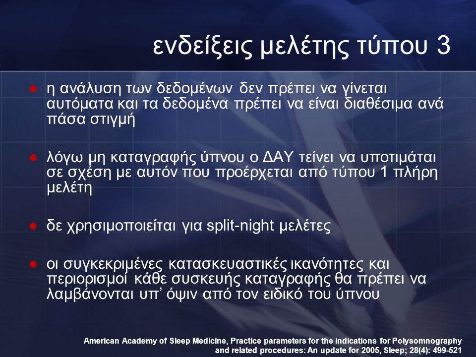 ενδείξεις μελέτης τύπου 3