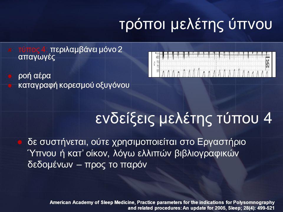 ενδείξεις μελέτης τύπου 4