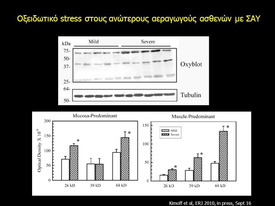 Οξειδωτικό stress στους ανώτερους αεραγωγούς ασθενών με ΣΑΥ