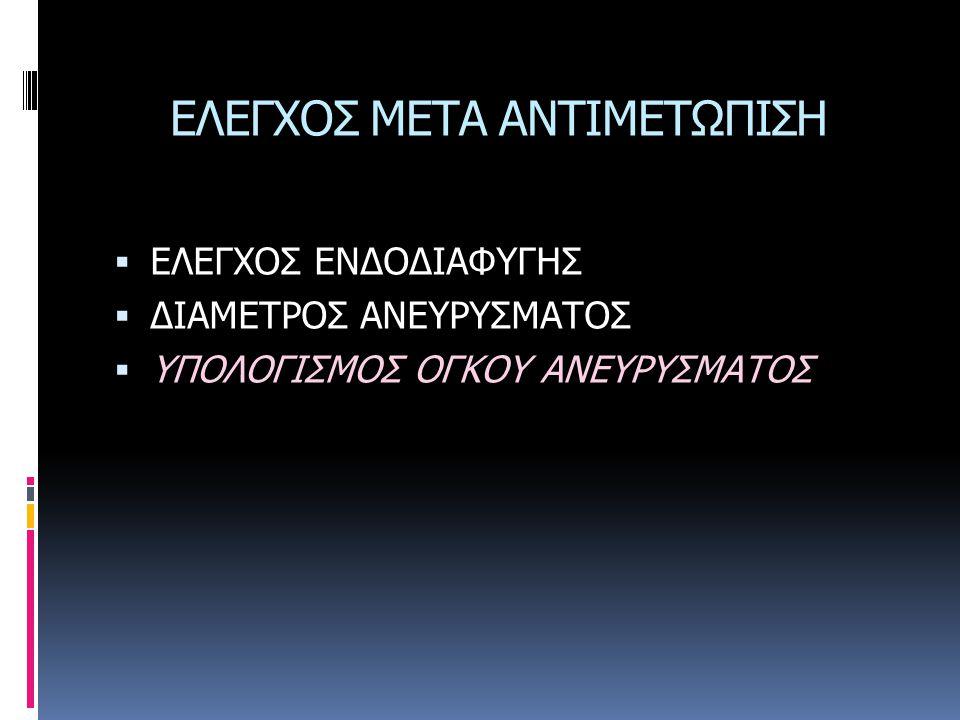 ΕΛΕΓΧΟΣ ΜΕΤΑ ΑΝΤΙΜΕΤΩΠΙΣΗ