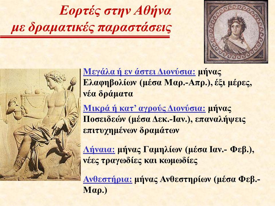 Εορτές στην Αθήνα με δραματικές παραστάσεις