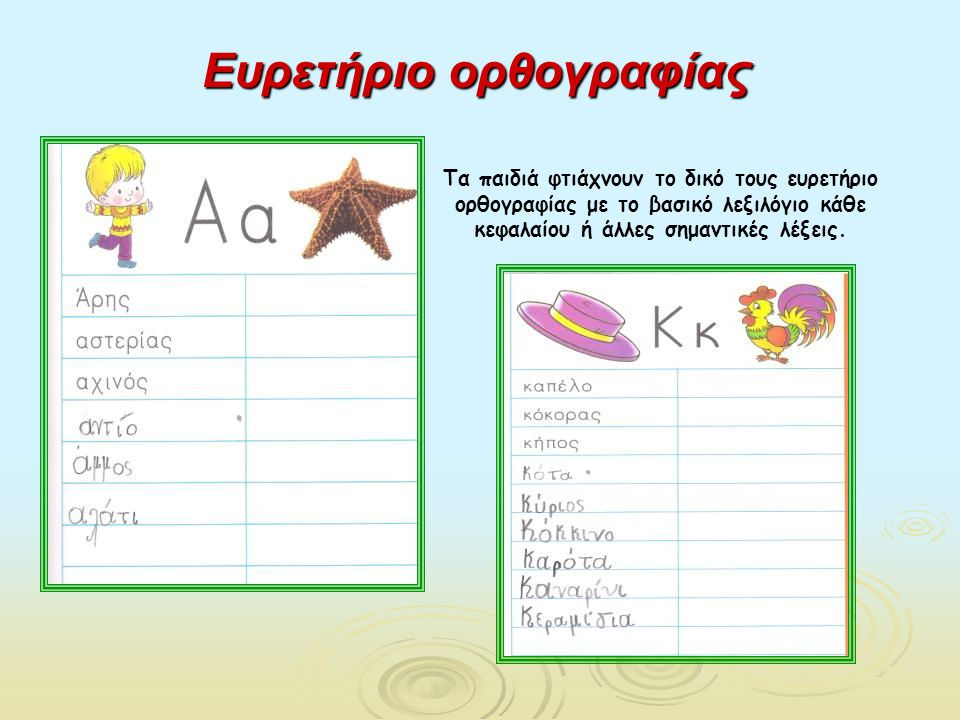 Ευρετήριο ορθογραφίας