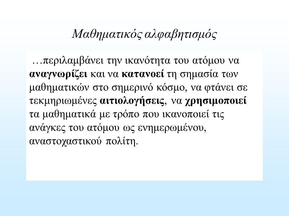 Μαθηματικός αλφαβητισμός
