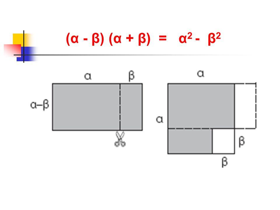 (α - β) (α + β) = α2 - β2