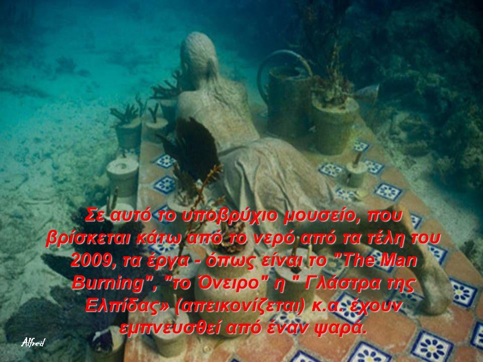 Σε αυτό το υποβρύχιο μουσείο, που βρίσκεται κάτω από το νερό από τα τέλη του 2009, τα έργα - όπως είναι το The Man Burning , το Όνειρο η Γλάστρα της Ελπίδας» (απεικονίζεται) κ.α.