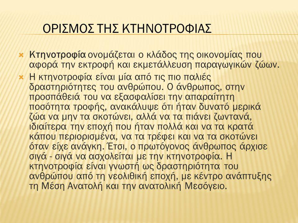ΟΡΙΣΜΟΣ ΤΗΣ ΚΤΗΝΟΤΡΟΦΙΑΣ