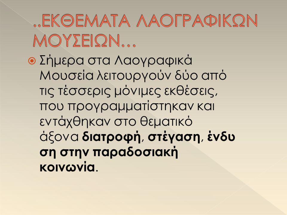 ..ΕΚΘΕΜΑΤΑ ΛΑΟΓΡΑΦΙΚΩΝ ΜΟΥΣΕΙΩΝ…