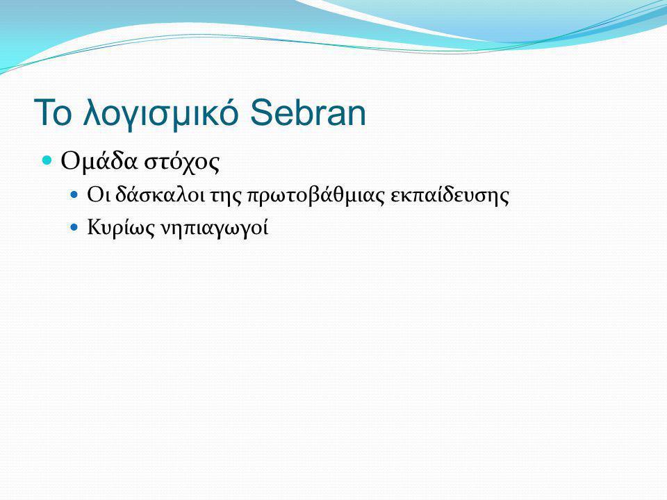 Το λογισμικό Sebran Ομάδα στόχος