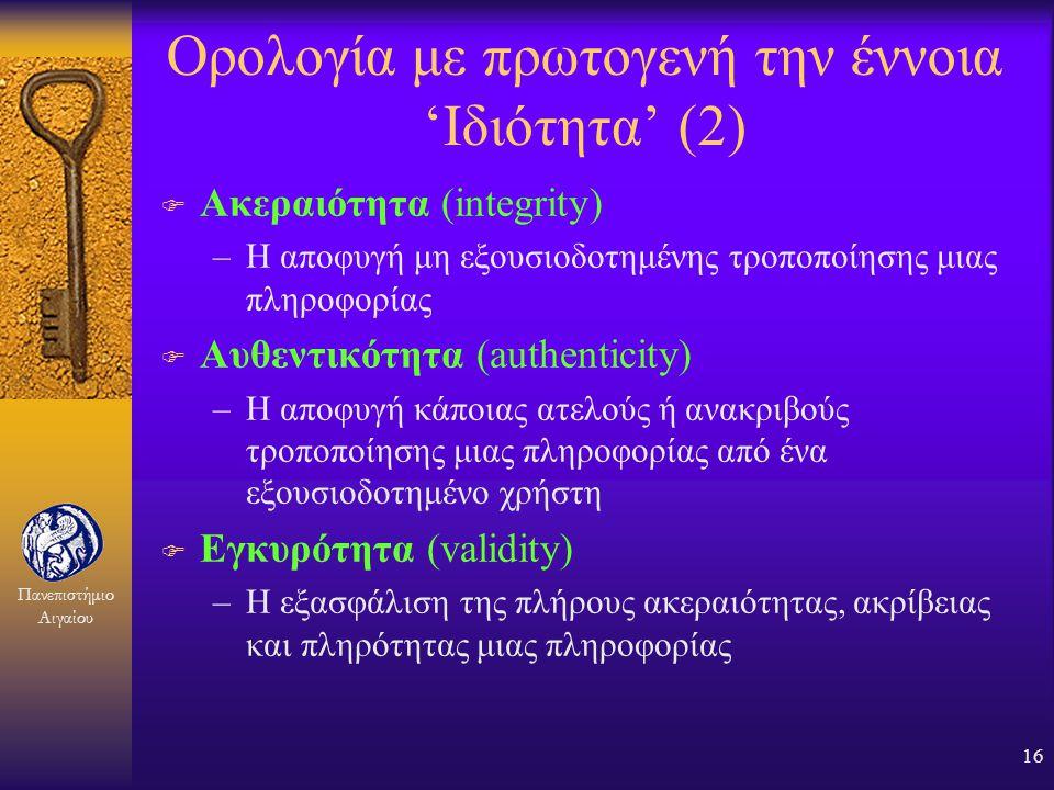 Ορολογία με πρωτογενή την έννοια 'Ιδιότητα' (2)
