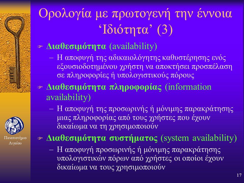 Ορολογία με πρωτογενή την έννοια 'Ιδιότητα' (3)
