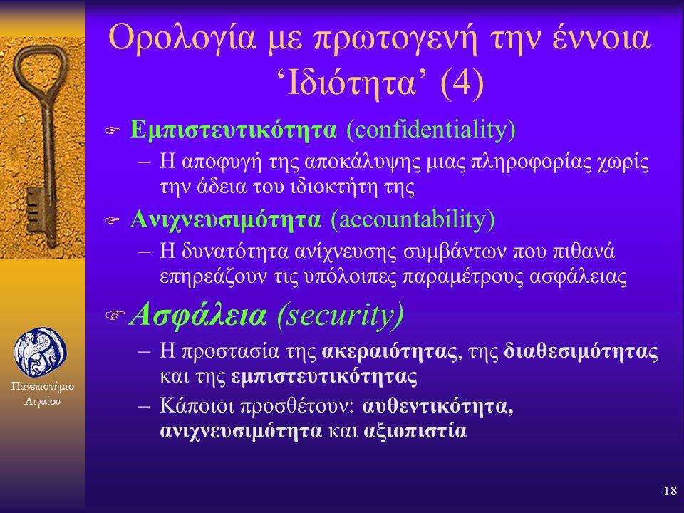 Ορολογία με πρωτογενή την έννοια 'Ιδιότητα' (4)