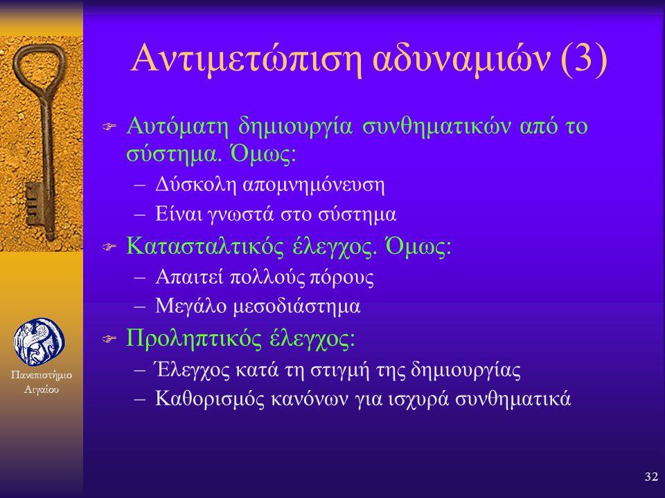 Αντιμετώπιση αδυναμιών (3)