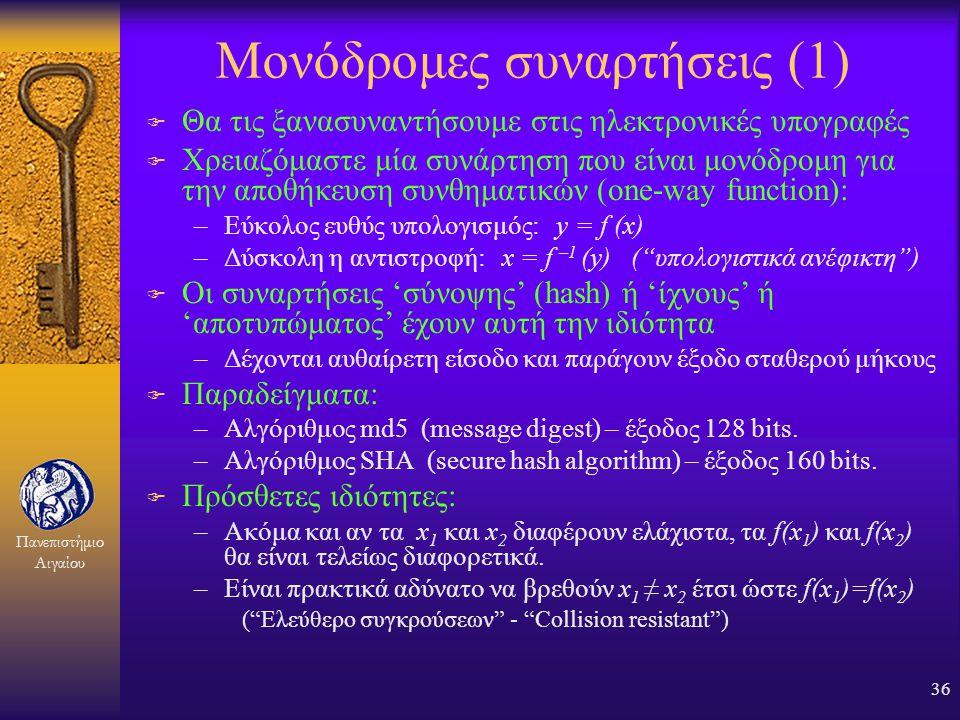 Μονόδρομες συναρτήσεις (1)