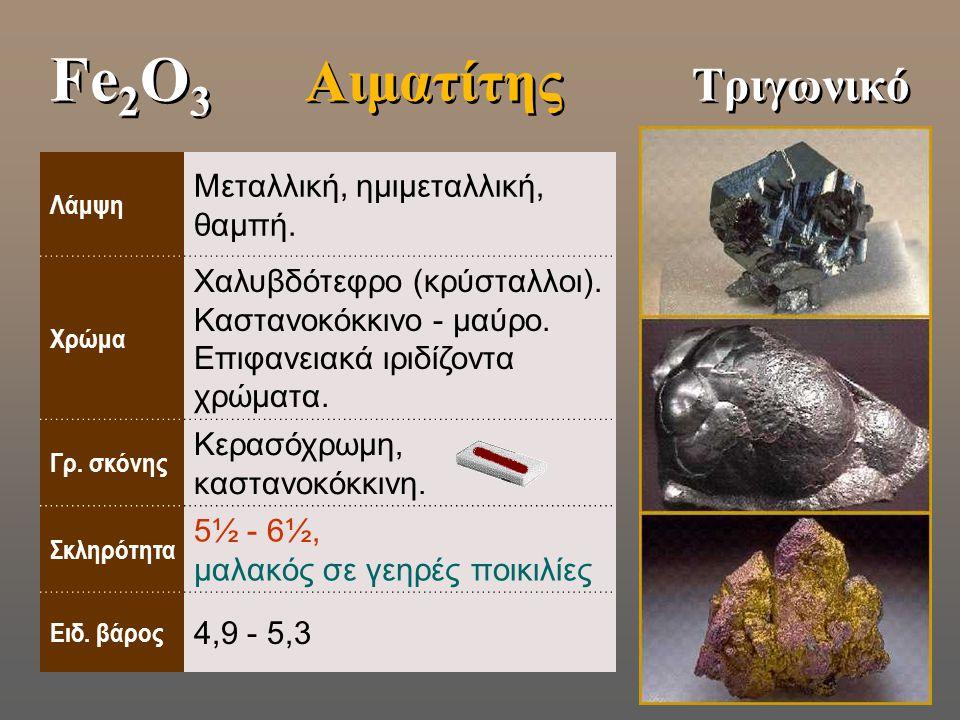 Fe2O3 Αιματίτης Τριγωνικό