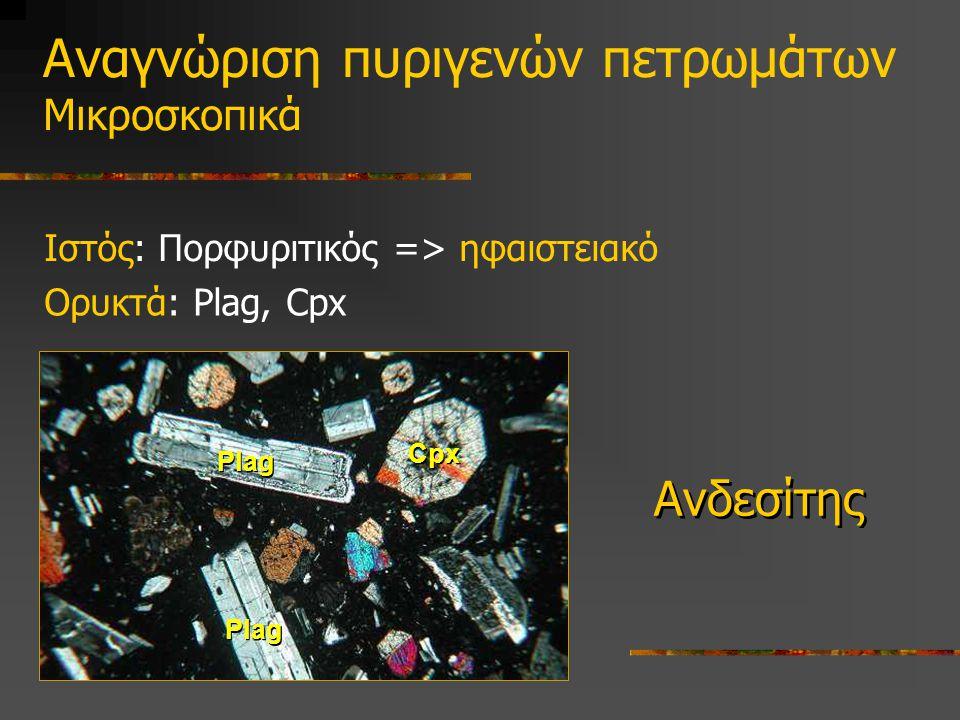 Αναγνώριση πυριγενών πετρωμάτων Μικροσκοπικά