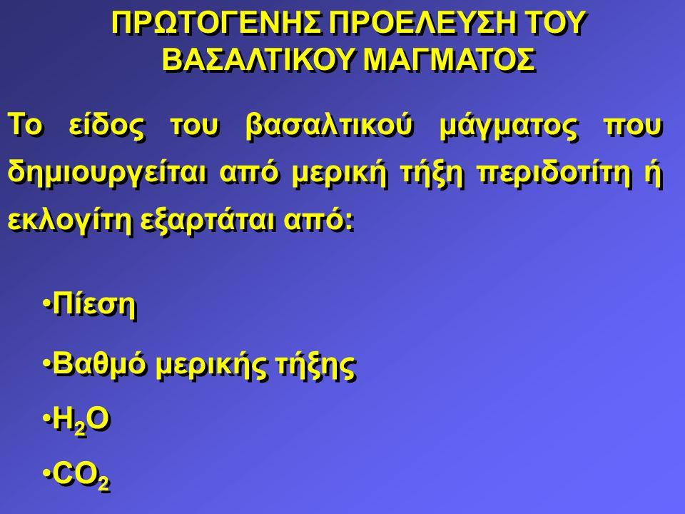 ΠΡΩΤΟΓΕΝΗΣ ΠΡΟΕΛΕΥΣΗ ΤΟΥ ΒΑΣΑΛΤΙΚΟΥ ΜΑΓΜΑΤΟΣ